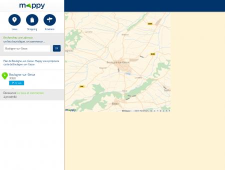 Plan Boulogne-sur-Gesse : carte de Boulogne...