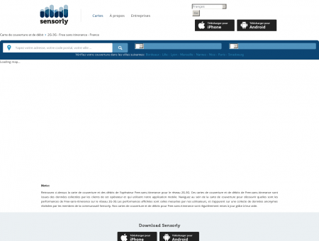 2G-3G FREE-SANS-ITINERANCE | Voir carte de...