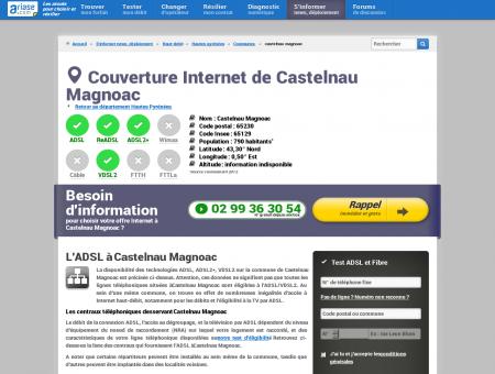 Couverture Internet de Castelnau Magnoac -...