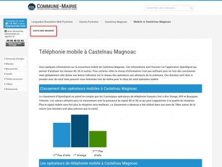 Téléphonie mobile, 3G et 4G à Castelnau...