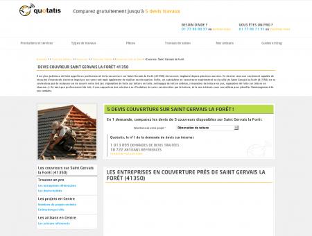 Travaux de couverture Saint Gervais la Forêt,...