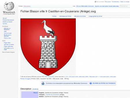 Fichier:Blason ville fr Castillon-en-Couserans...