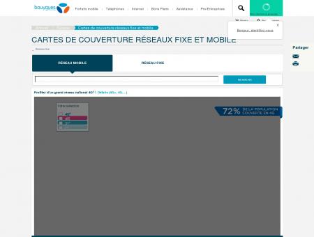 Cartes de couverture réseau fixe & mobile 4G...
