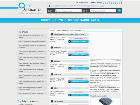 Couvreur Villiers sur Marne 94350