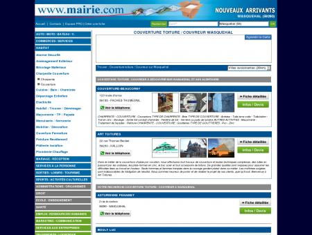 Couverture toiture / Couvreur Wasquehal :...