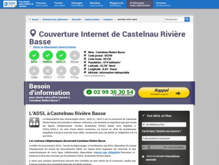 Couverture Internet de Castelnau Rivière Basse