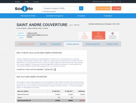 SAINT ANDRE COUVERTURE à SAINT ANDRE...