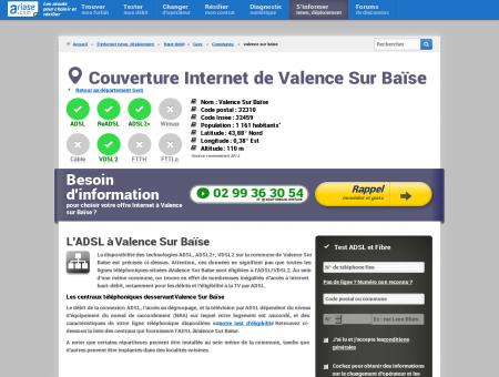 Couverture Internet de Valence Sur Baïse
