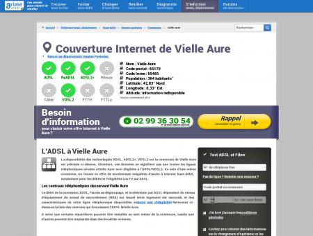 Couverture Internet de Vielle Aure - ADSL,...