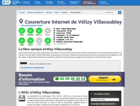 Couverture Internet de Vélizy Villacoublay