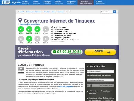 Couverture Internet de Tinqueux - Comparatif...
