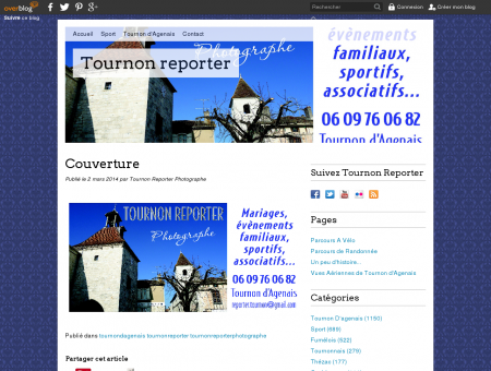 Couverture - Tournon reporter