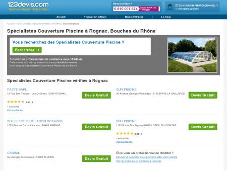 Couverture piscine Rognac Bouches du...