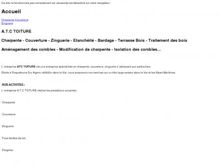 A.T.C TOITURE - Accueil