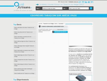 Couvreur Tarascon sur Ariège 09400