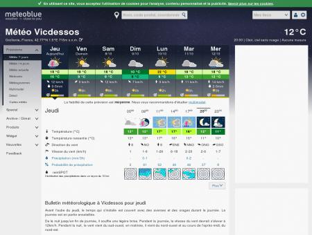 Météo Vicdessos - meteoblue - Weather...