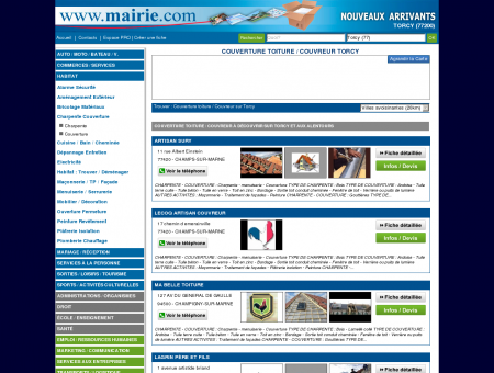Couverture toiture / Couvreur Torcy : Mairie.com