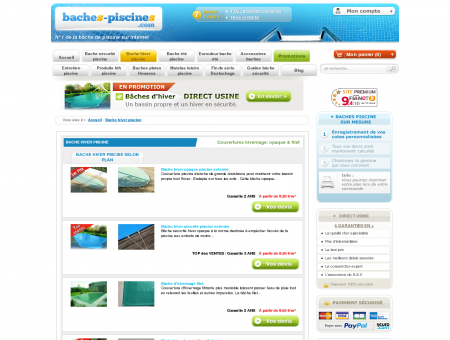 Couverture Piscines Hiver | Baches-Piscines.com
