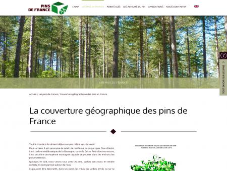 Couverture géographique - PINS DE FRANCE
