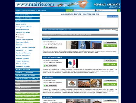 Couverture toiture / Couvreur Le Pin :...