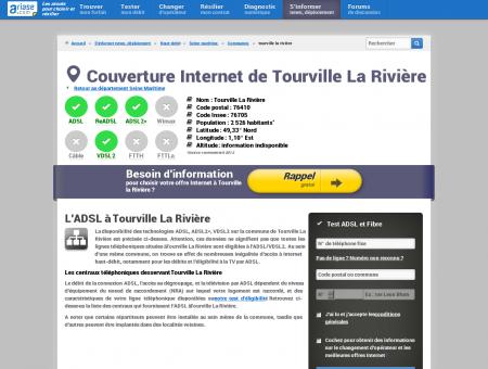 Couverture Internet de Tourville La Rivière