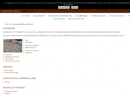 Entreprise de couverture - PMTC à Toulouse 31