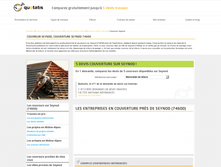 Couvreur Seynod, Couverture Seynod 74600