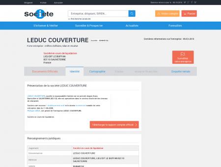 LEDUC COUVERTURE (SAUVETERRE) Chiffre...
