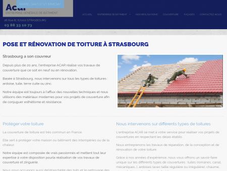 Couverture Strasbourg - ENTREPRISE ACAR :...