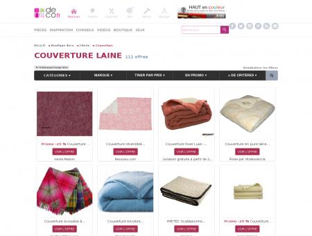Couvertures en laine 28   Soldes.couverture.deco.fr