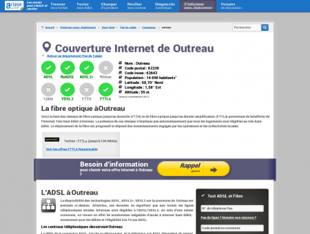 Couverture Internet de Outreau - Comparatif...