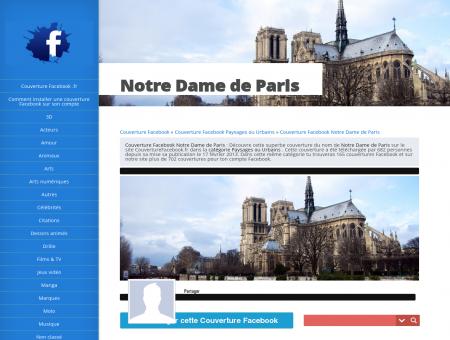 Couverture Facebook Notre Dame de Paris