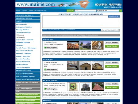 Couverture toiture / Couvreur Montfermeil :...