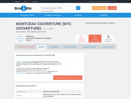 MONTCEAU COUVERTURE (SAINT ROMAIN...