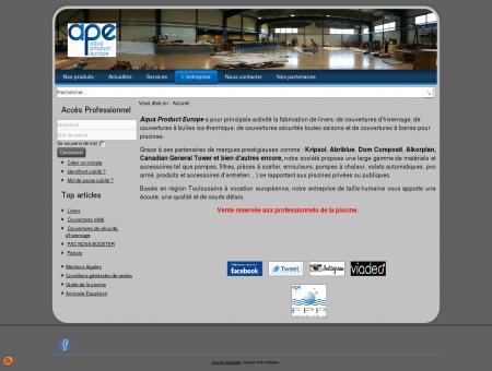 Aqua Product Europe - Fabricant liner,...