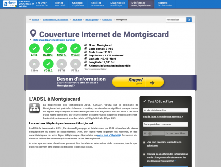Couverture Internet de Montgiscard -...