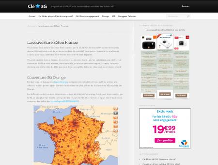 La couverture 3G en France - Clé 3G, le...