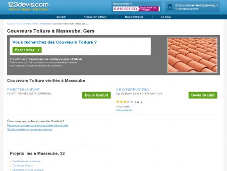 Toitures Masseube : zinc, ardoise, tuile : Devis...