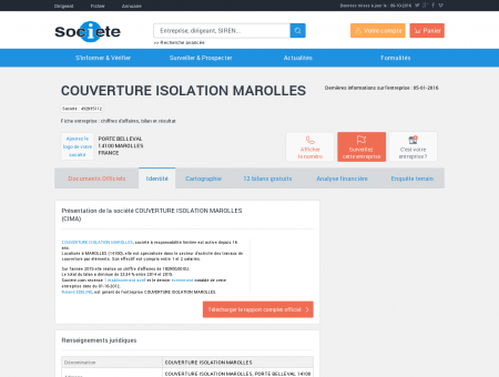 COUVERTURE ISOLATION MAROLLES...