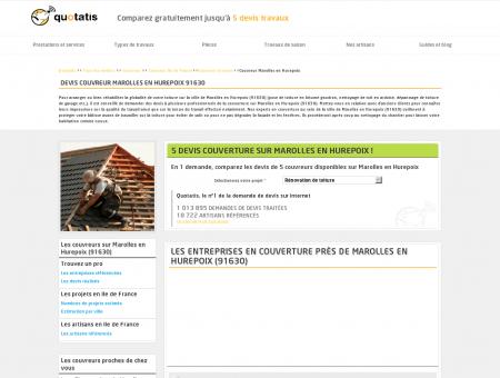 Travaux de couverture Marolles en Hurepoix,...