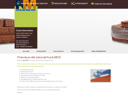 Couverture / Charpentier 61 / MOUTIER...