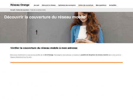 Carte de couverture Mobile Orange : 4G,...