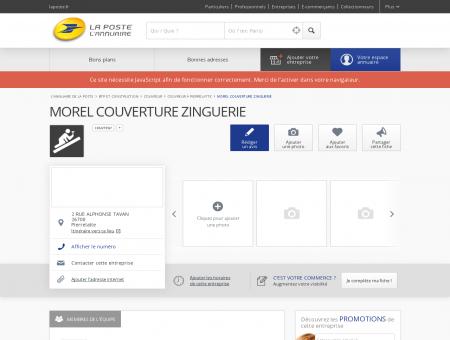 MOREL COUVERTURE ZINGUERIE - Couvreur à...