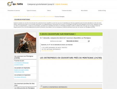 Couvreur Montignac - 5 devis gratuits