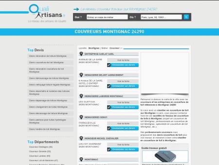 Couvreur Montignac 24290