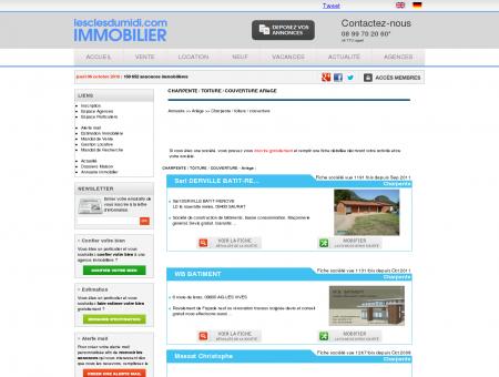 CHARPENTE / TOITURE / COUVERTURE Ariège...