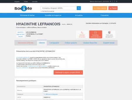 HYACINTHE LEFRANCOIS (ISIGNY SUR MER)...