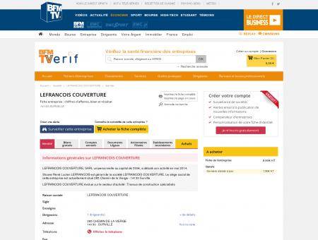 Société LEFRANCOIS COUVERTURE à...