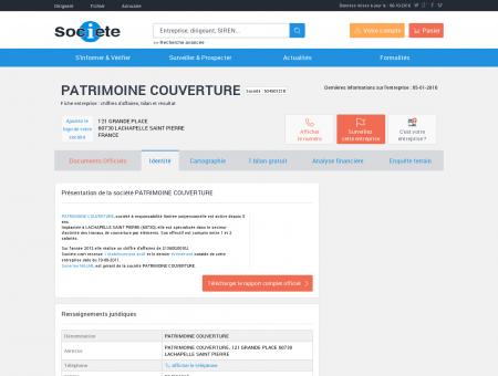 PATRIMOINE COUVERTURE (LACHAPELLE...