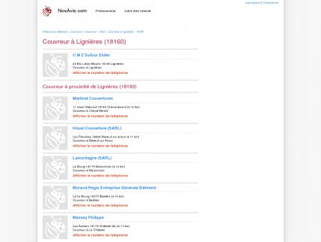 Couvreur Lignières - 18160 - Avis Couvreurs à...